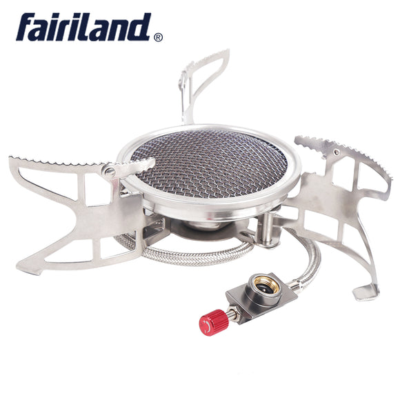 3800W 360g Windproof Portable Mini Stove Folding Picnic Cooking Gas Burner Camping Gas Stove Furnace