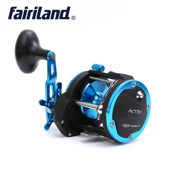 4BB 4.1:1 Trolling Reel RIGHT HAND Boat Fishing Reel Baitcasting Reel