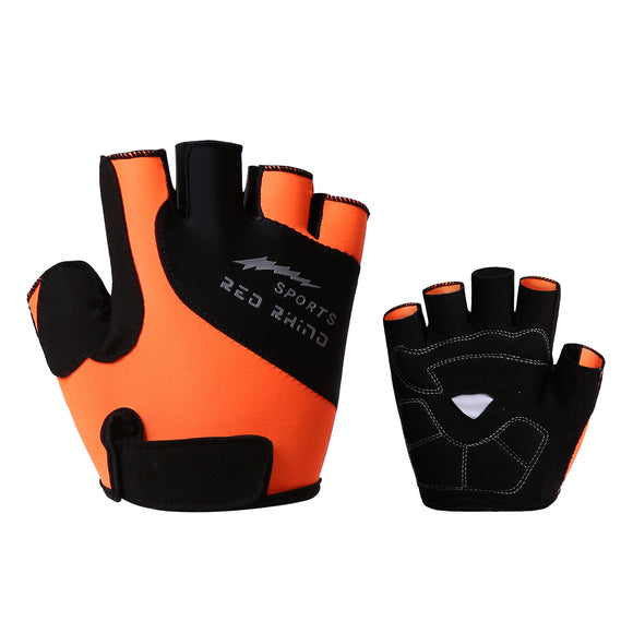 Half Finger Cycling Glove Shockproof Breathable High Elasticity Bicycle Fingerless Sport Glove M-XL