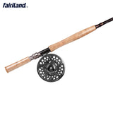 4.2m Fly Fishing Rod 021C9-10/11-12# with 110mm Fly Reel and Spare Spool Combo in a Free Rod Bag-USA