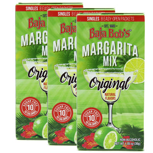 Baja Bob's Sugar-Free ORIGINAL MARGARITA Singles - Contains 8 Single-Serve Cocktail Mix Packets