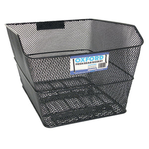 Oxford Rear Basket Black with Fittings