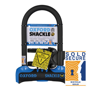 Oxford Shackle 14 U-Lock (260mm) Blue