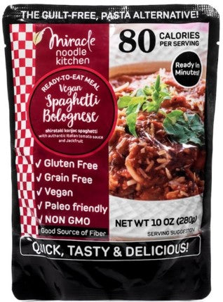 Miracle Noodle Ready-to-Eat Vegan Spaghetti Bolognese