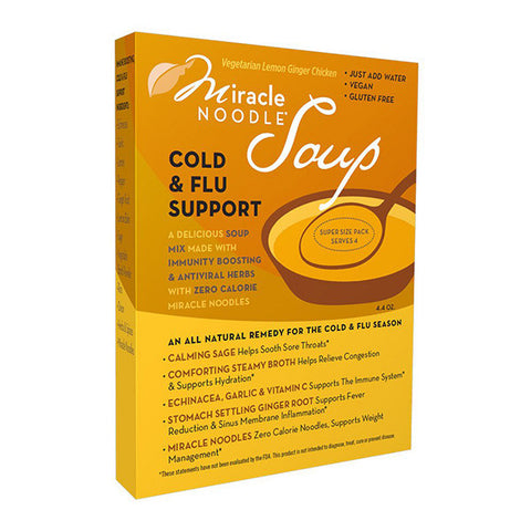 Cold & Flu Support Soup - Vegetarian Lemon Ginger Chicken Flavor - 2 boxes (6 servings)