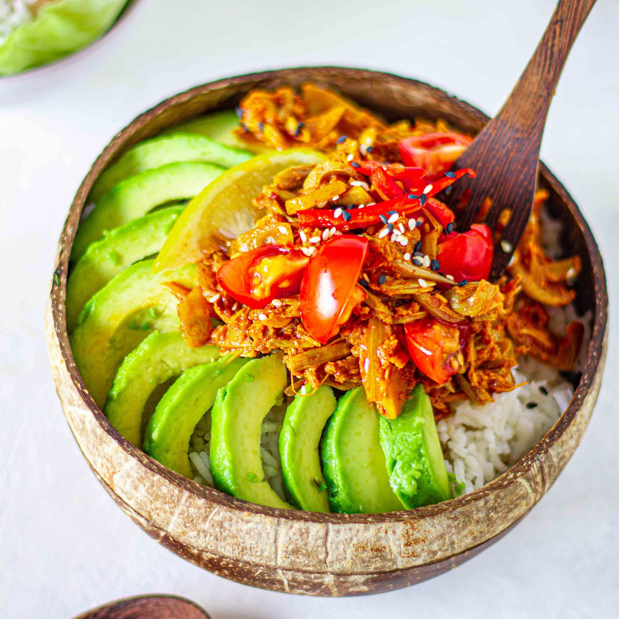 Spicy Pulled Jackfruit Bowl