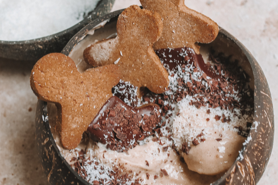 Gingerbread Nice Cream