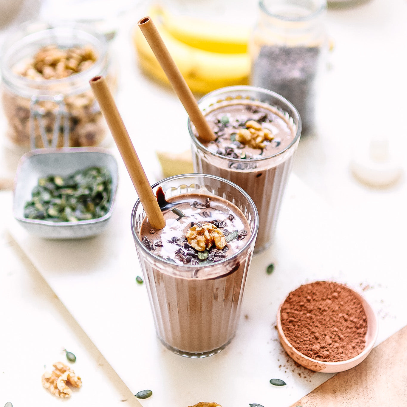 Cacao Ginger and Walnut Smoothie
