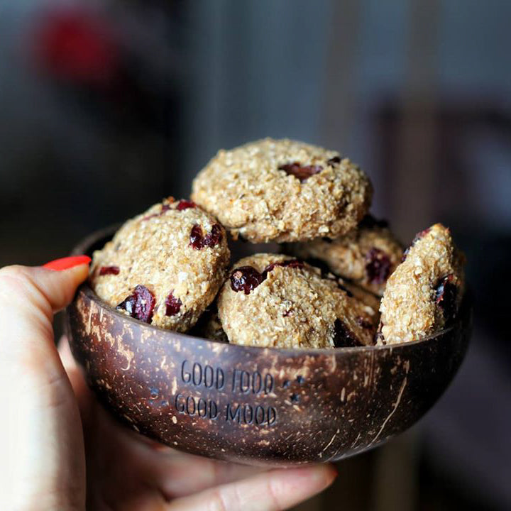 Gluten-free Oatmeal Cookies with Cranberries and Dark Chocolate
