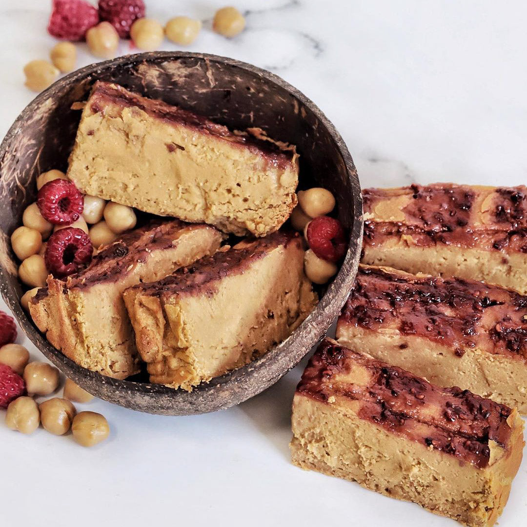 Healthy Jammy Fudge Blondies