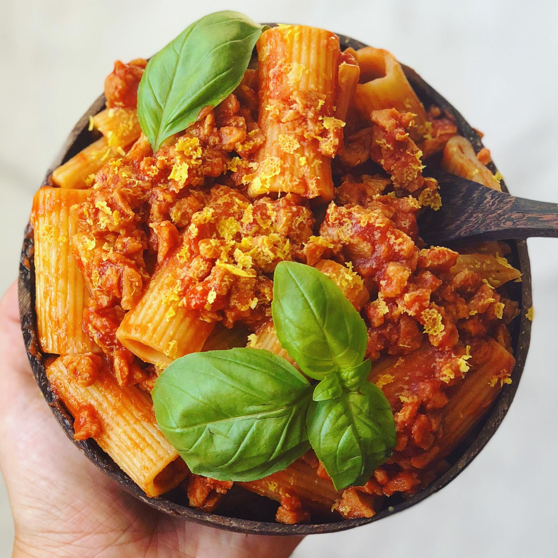 Meat-free Bolognese