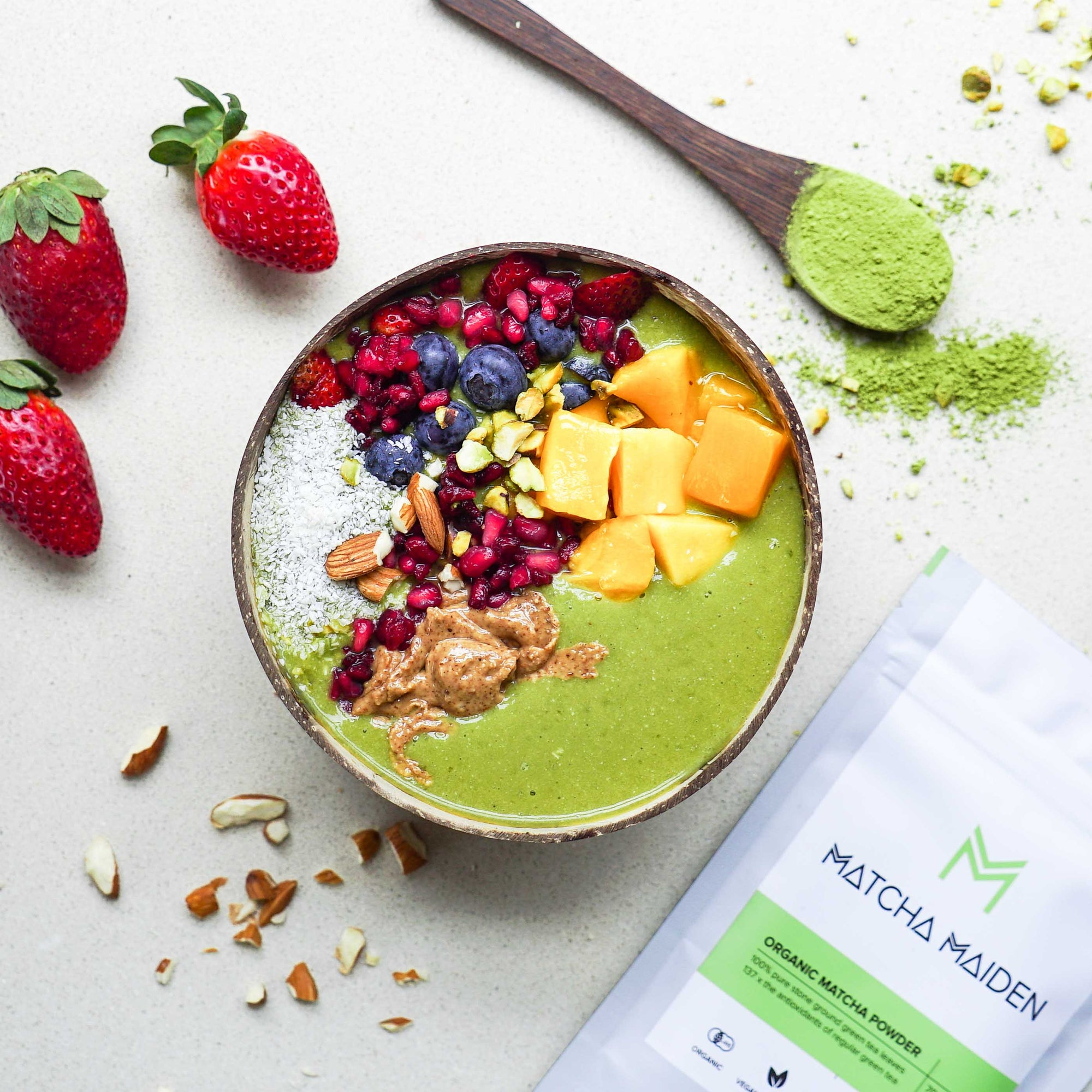 Super Green Matcha Smoothie Bowl