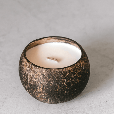 Coconut-Soy Candle by Coconut Bowls