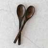 Wooden Buddha Spoons by Coconut Bowls