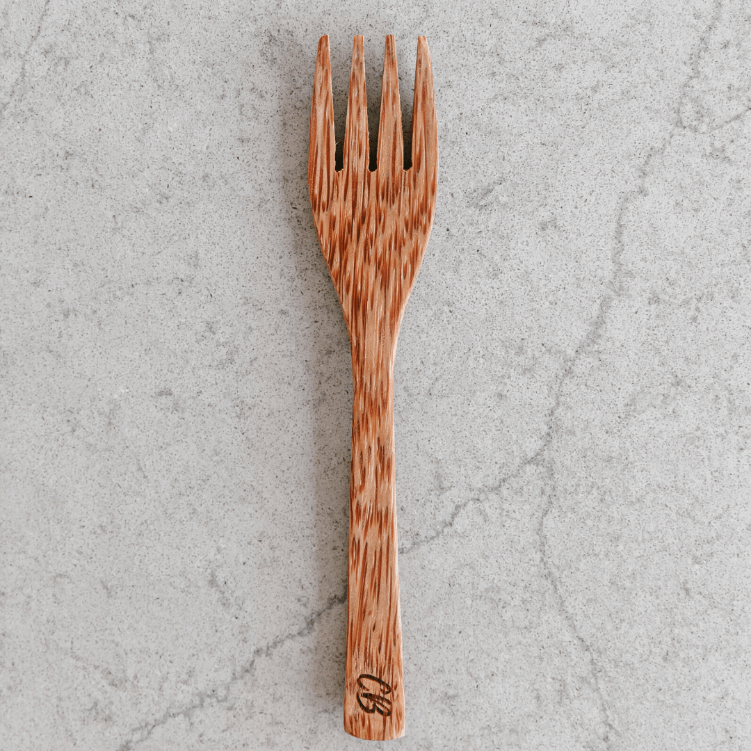 Wooden Coconut Fork