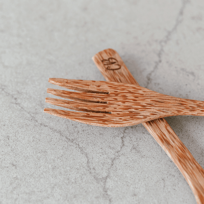 Wooden Coconut Fork by Coconut Bowls