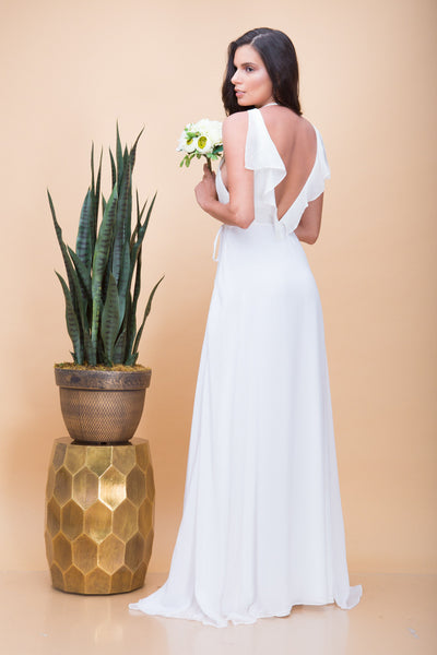 Pre- Order Florence Ruffle Maxi Dress in White