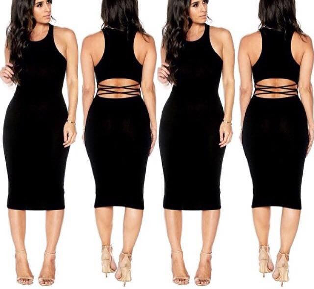 Izzy Sexy Back Bodycon Dress