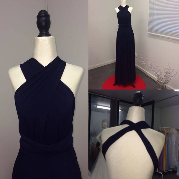Infinity Bridesmaids Dresses in Navy Blue