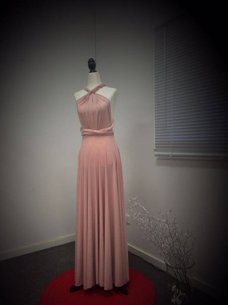 Infinity Bridesmaids Dresses in Blush Pink