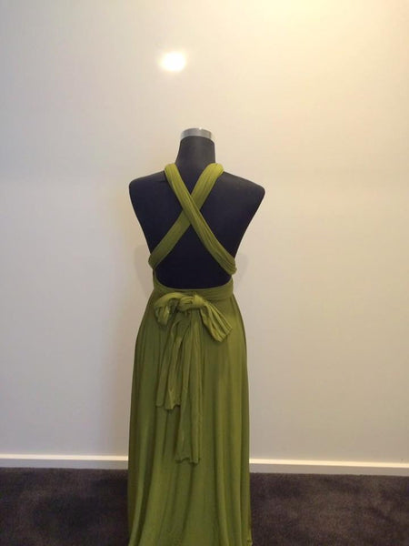 Apple Green Convertible/Multi-Way Maxi Dress