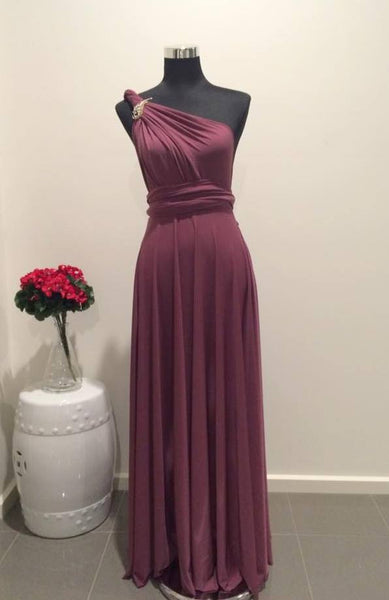 Old Rose Convertible/Multi-Way Maxi Dress