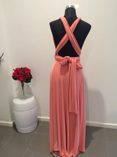 Pomelo Convertible/Multi-Way Maxi Dress