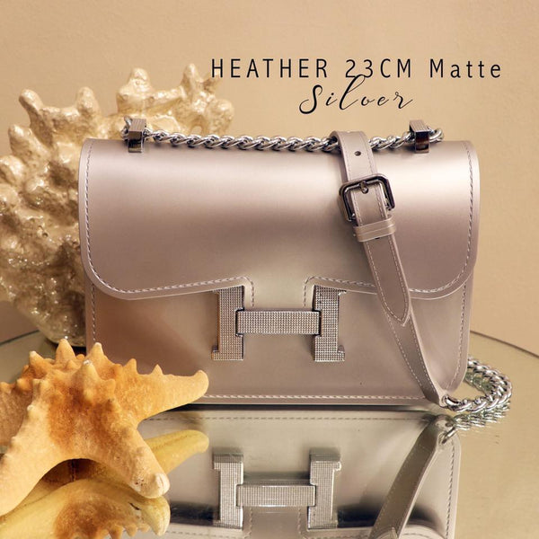 Heather Sling Bag-Silver