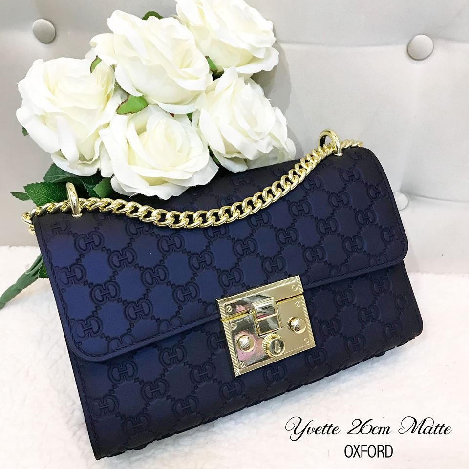 Yvette Sling Bag in Navy Blue