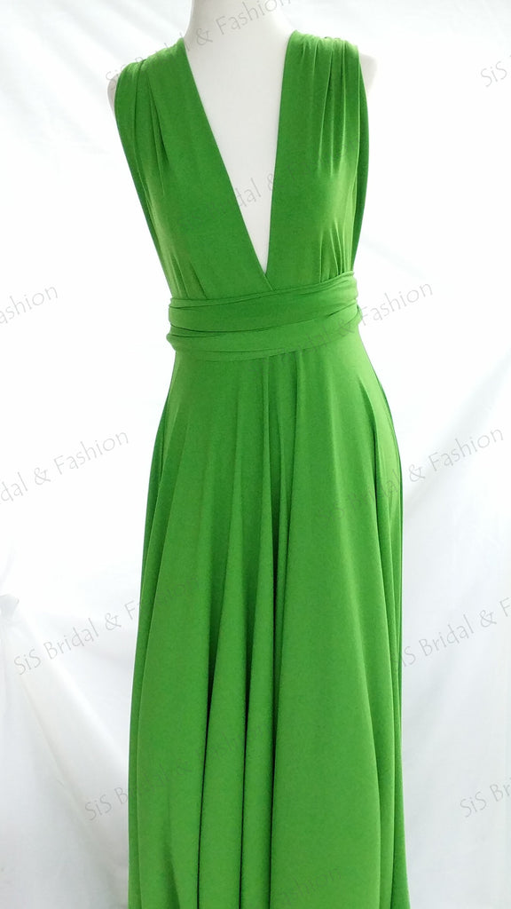 Avocado Green Convertible/Multi-Way Dress