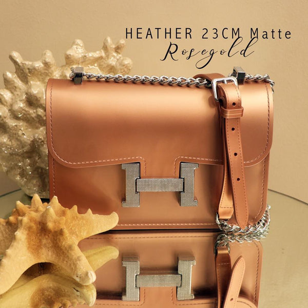 Heather Sling Bag-Rose Gold Matte