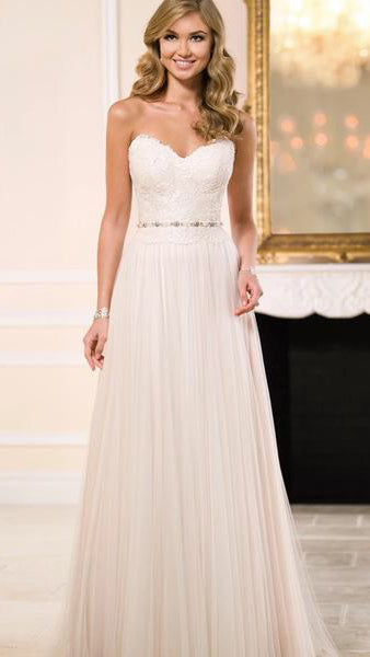Laura  Strapless A-line Bridal or Debutante Dress
