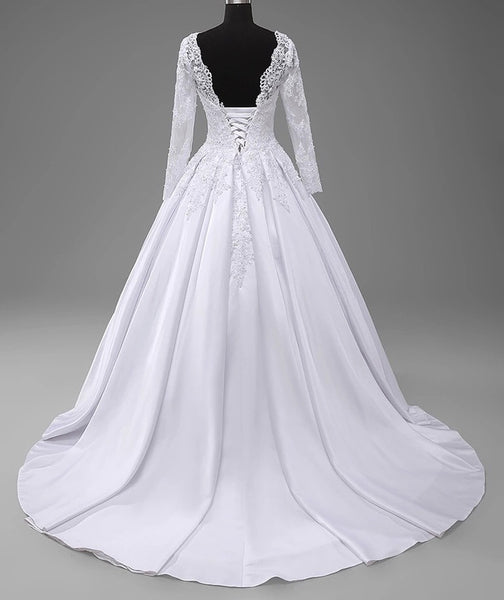 Laura Bridal Couture Vintage Long Sleeves Ball Gown