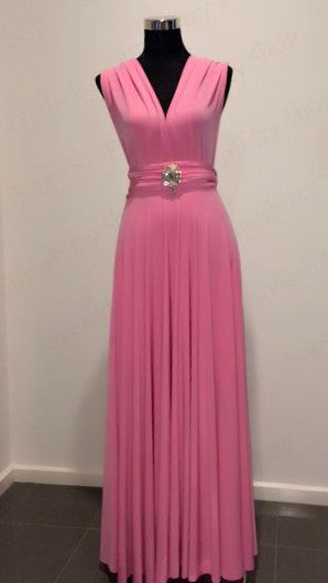 Baby Pink Convertible/Multi-Way Maxi Dress