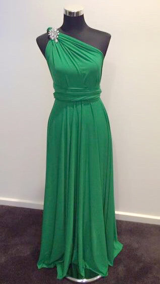 Emerald Green Convertible/Multi-Way Maxi Dress