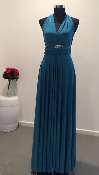 265af8c4c5 Light Teal Blue Convertible Multi-Way Dress – S.i.S Bridal   Fashion