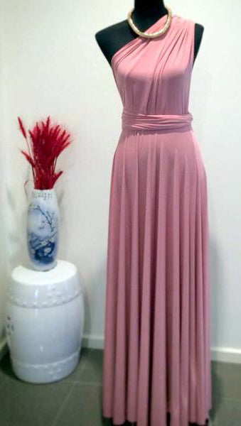 Pantone Convertible/Multi-Way Maxi Dress