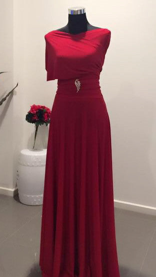 Red Convertible/Multi-Way Maxi Dress