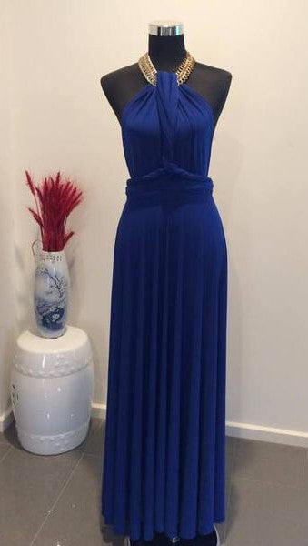 Royal Blue Convertible/Multi Way Maxi Dress