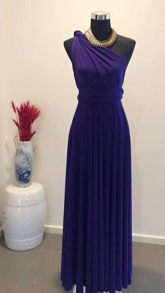 Ube Violet Convertible/Multi-Way Maxi Dress