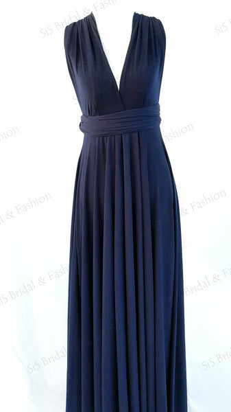 Navy Blue Convertible/Multi-Way Dress