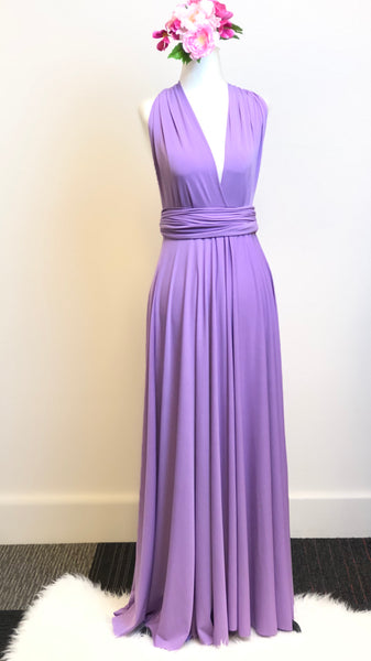 Lilac Convertible/Multi-Way Maxi Dress