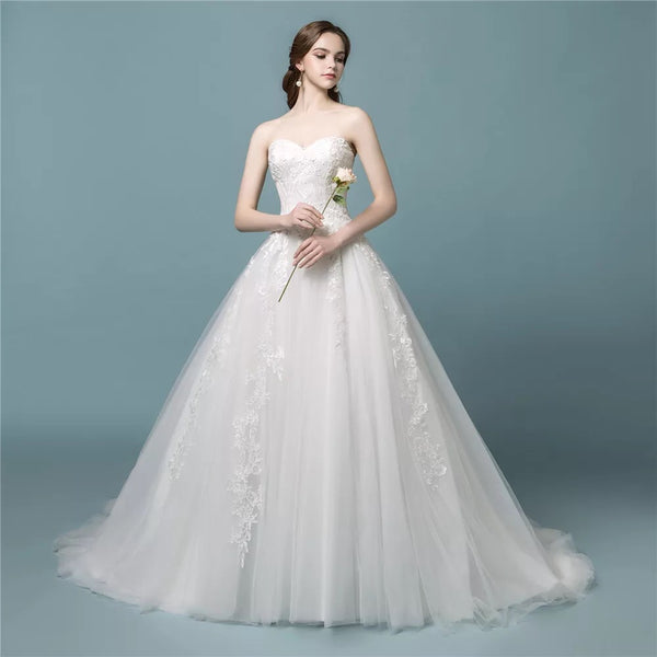 Laura Bridal Couture Simple Elegant Ball Gown