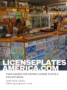 LicensePlatesAmerica.com is owned and operated by License Plates America, Inc. in Orlando, Florida. Our intention is to provide easy and affordable access to collectible license plates for the beginning through the professional hobbyist. We have been prov