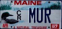 Maine A Natural Treasure License Plate