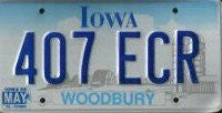 Iowa Clouds License Plate