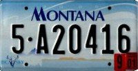 Montana Blue Graphic License Plate