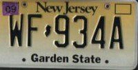 New Jersey Black on Straw License Plate