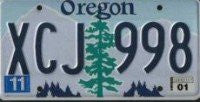 Oregon Evergreen License Plate