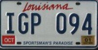 Louisiana Sportsman's License Plate